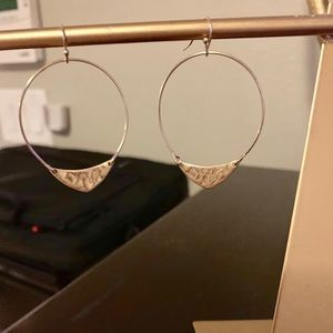 Anthropologie Gold Tone Dangle Earrings